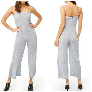 Pants - Blue Pinstripe Jumpsuit